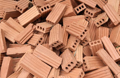Bricks for construction. The red bricks for construction Stock Image