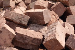 Bricks at a construction site Stock Images