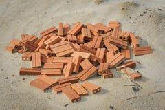 Bricks in construction sites Stock Image