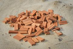 Bricks in construction sites Stock Images