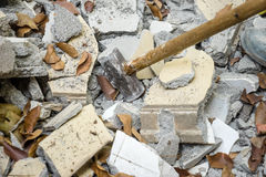 Bricks debris Royalty Free Stock Image
