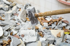 Bricks debris Royalty Free Stock Photo