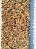 Bricks on decorative wall outdoors Royalty Free Stock Photography