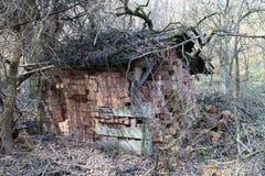Bricks deposited in old shelter, Myjavská pahorkatina. Slovakia Royalty Free Stock Photo