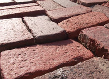 Bricks detail in perspective Stock Photography