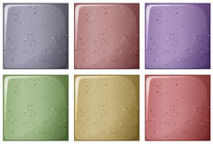 Bricks in different colors Stock Photos