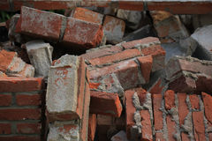 Bricks in a dumpster Stock Photos