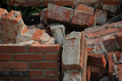 Bricks in a dumpster Royalty Free Stock Images