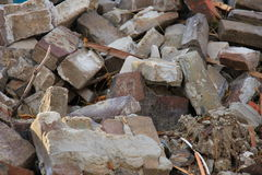 Bricks in a dumpster Royalty Free Stock Photos
