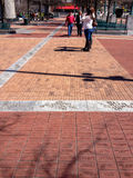 Bricks engraved with short messages of donors at Centennial Olympic Park Royalty Free Stock Photography