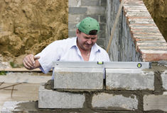 Are bricks even? stock photography