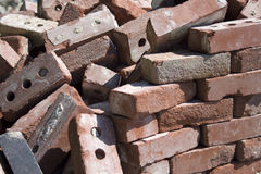 Bricks falling Stock Photography