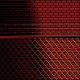 Bricks and fence background Stock Photos