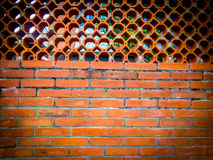 Bricks fence wall pattern Royalty Free Stock Photo