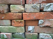 Bricks. The bricks form into a wall Royalty Free Stock Photo