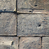 Bricks on the ground, texture background Royalty Free Stock Photos