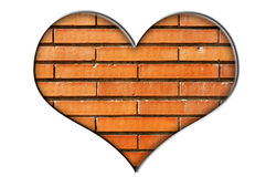 Bricks heart Royalty Free Stock Photo