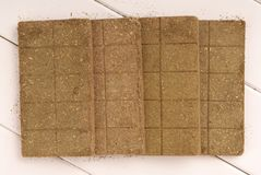 Bricks of herb, briquettes of herb, bar of herb, herbal bars, br royalty free stock photography