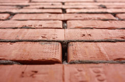 Bricks in high perspective Stock Photos