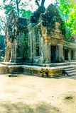 Bricks of history. Temple in angkor wat , Cambodia Royalty Free Stock Photo