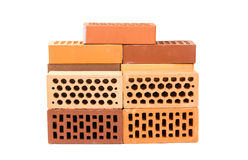 Bricks Isolated Royalty Free Stock Images