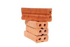 Bricks isolated on white background Stock Images