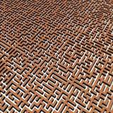 Bricks labyrinth Royalty Free Stock Photos