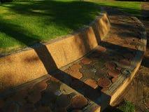 Bricks on the lawn Stock Photo