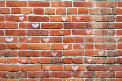 Bricks of love Stock Images
