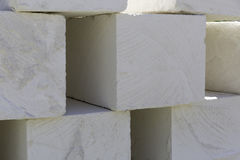 Bricks made of white natural stone texture abstract as background. Photo Royalty Free Stock Photos