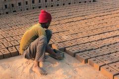 Bricks making worker Stock Photography