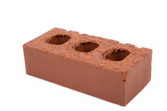 Masonry brick on white Royalty Free Stock Photo