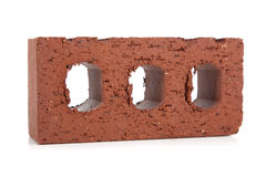 Masonry brick on white Royalty Free Stock Images