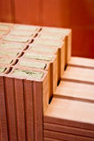 Bricks with mineral wool insulation Royalty Free Stock Images