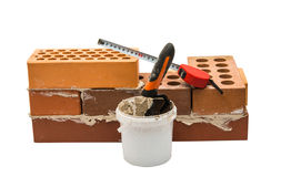 bricks with mortar Royalty Free Stock Image