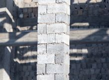 Bricks in a newly built house as a background.  royalty free stock images