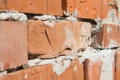 Bricks. Orange bricks in the wall royalty free stock photography