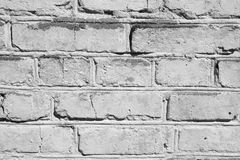 Bricks painted white background. Royalty Free Stock Photography