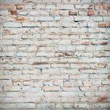 Bricks painted white. Royalty Free Stock Image