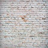 Bricks painted white, vignette. Stock Photography