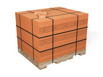 Bricks pallet Royalty Free Stock Images