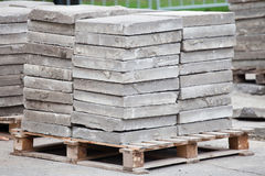 Bricks on a pallet royalty free stock image
