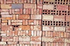 Bricks pattern wall Royalty Free Stock Images