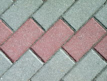 Bricks pavement. Red and white bricks pavement suitable as background Royalty Free Stock Photos