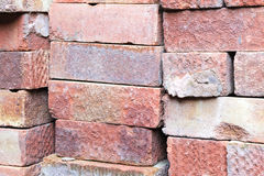 Bricks in a pile close up Royalty Free Stock Image