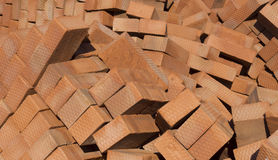 Bricks. Pile of bricks lying on a construction site Royalty Free Stock Image