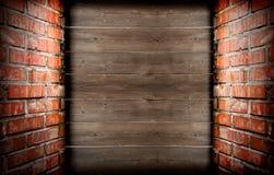 Bricks and planks Stock Photography