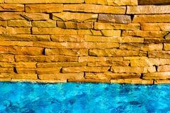 Bricks beside the pool Stock Image