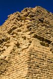 Bricks in the Pyramid of Djoser. This is a picture of the corner of the Pyramid of Djoser, at Saqqara, Egypt, one of the oldest buildings in the world Stock Photos