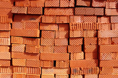 Bricks. Red bricks wall background texture Stock Images